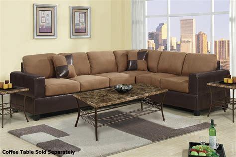 brown fabric sectional sofa poundex playa f7632 brown fabric sectional sofa steal a