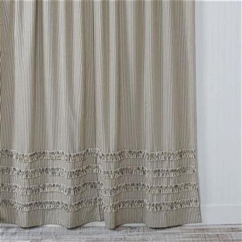 ticking stripe shower curtain ruffled ticking stripe shower curtain black southern