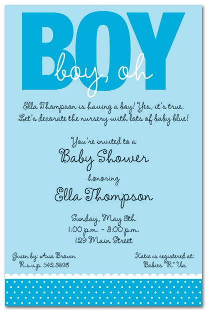 Baby Shower Invitation Wording For A Boy boy baby shower invitations wording