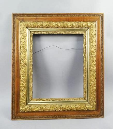 large decorative frame antique c1900 fancy large gilded ornate oak decorative