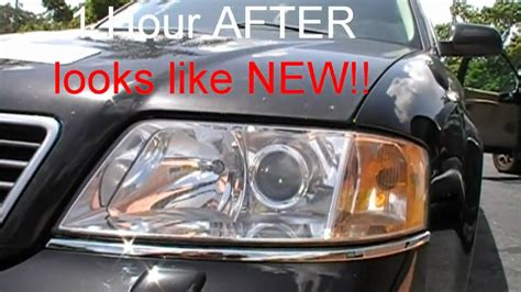 2003 audi a6 headlights audi a6 foggy yellow headlights saved by our headlight