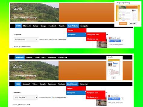 membuat menu dropdown blogspot cara membuat menu dropdown diatas header atau di bawah