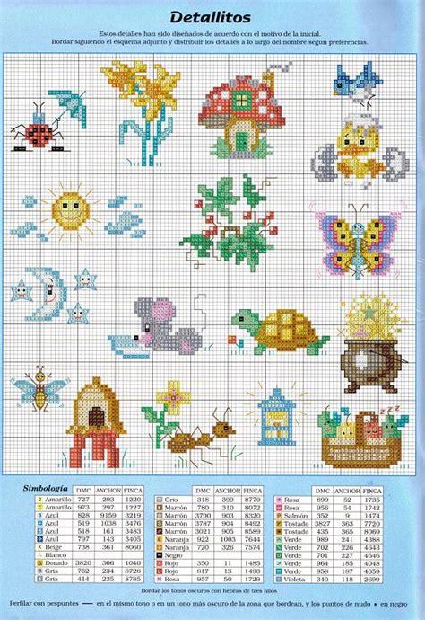 punto de cruz imagenes esquemas graficos y patrones graficos para baberos infantiles aprender manualidades