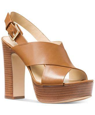 michael kors sandals macys michael michael kors mariana slingback platform sandals