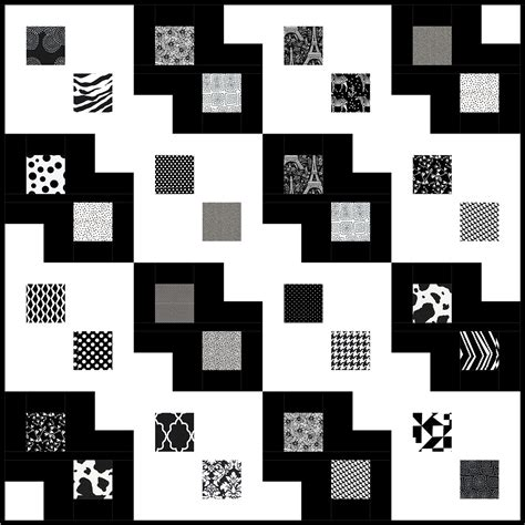 Free Black And White Quilt Patterns by Black And White Quilt