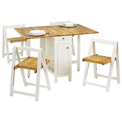 white extending butterfly dining table and chair
