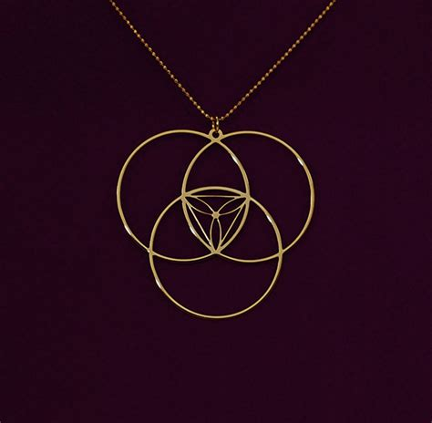 Golden Ratio Necklace golden ratio gold necklace delftia science jewelry
