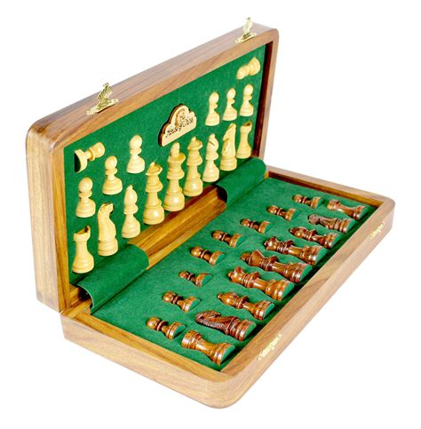 magnetic chess wooden chess set travel magnetic folding golden rosewood