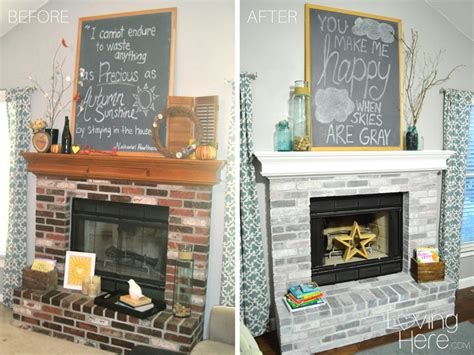 Before And After Brick Fireplace by Whitewashing Brick Fireplace Studio Design Gallery