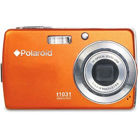 polaroid t1031 10mp digital camera 3 lcd 4x zm orange