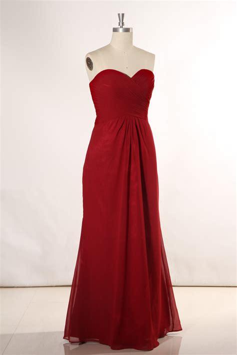 Robe Longue Bordeaux Demoiselle D Honneur - longue robe demoiselle d honneur bordeaux bustier coeur