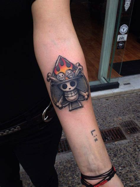 one piece jolly roger tattoo nightsong liz liz deviantart