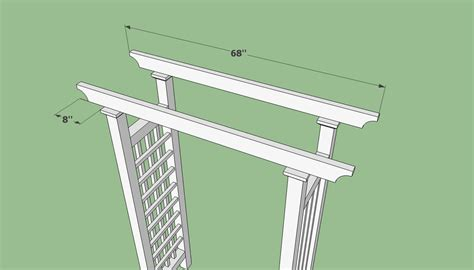 Wedding Arbor Design Plans by Plans To Build A Wedding Arbor Furnitureplans