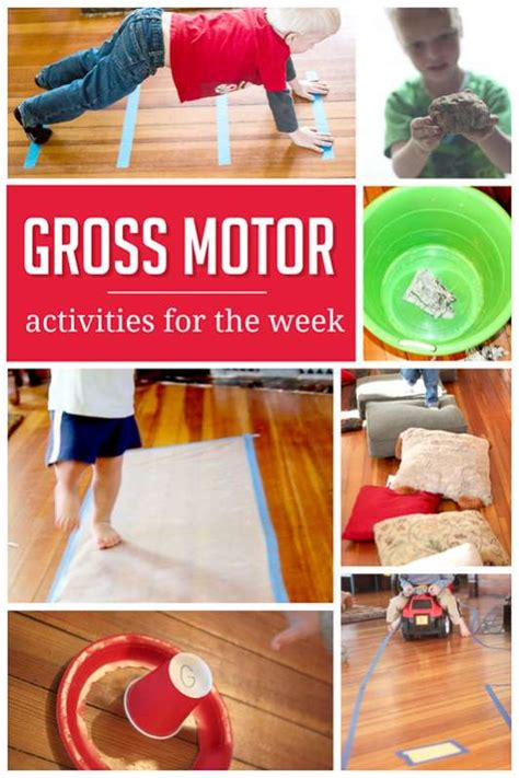 a sle weekly plan of gross motor activities on