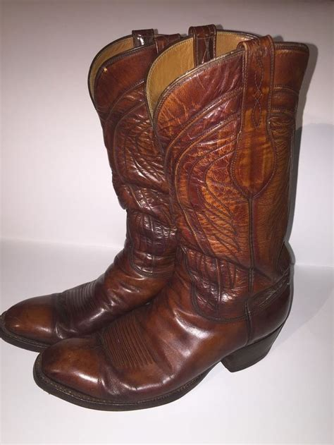 cowboy boots san antonio vintage s lucchese san antonio western cowboy boots