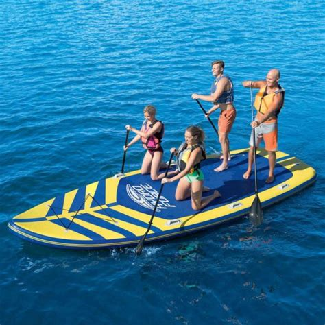 disco tube behind boat huge stand up paddle board holds 8 people gadgetking