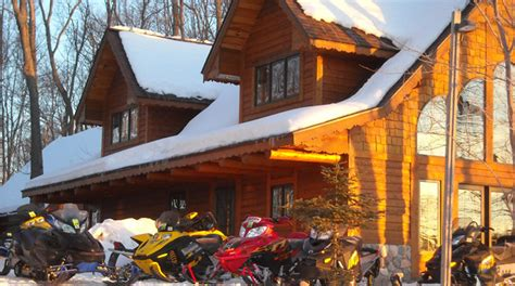 bayfield county wisconsin snowmobile lodging trailside