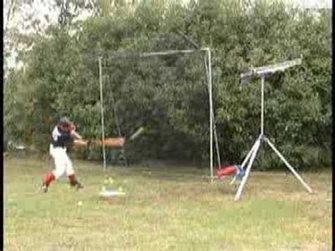 backyard batter backyard batter pitching machine youtube