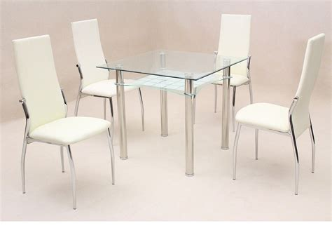 dining room table glass square clear glass dining room table and 4 chairs homegenies