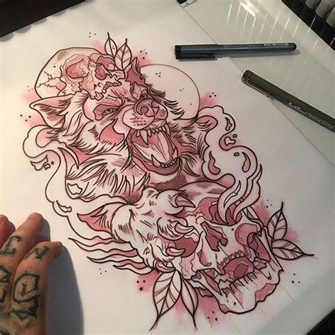 wolf sketch tattoo on instagram