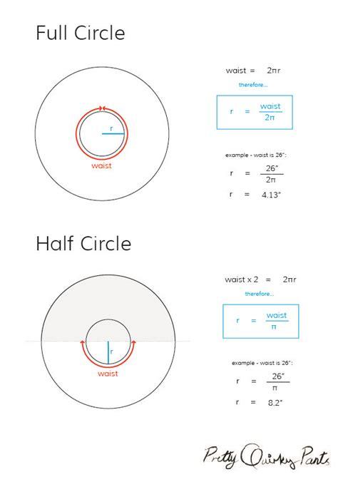 pattern making formula diy tips circle skirt formulas half third and quarter