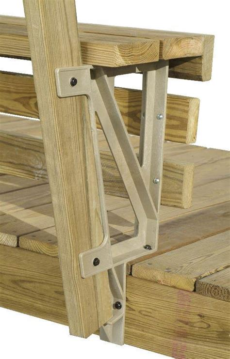 metal deck bench brackets 2x4basics black deckmate build bench deck bench brackets