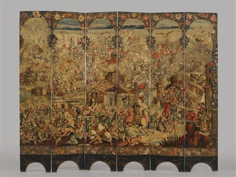 Sulaiman The Wolds Greatest Kingdom History museum european folding screen with the