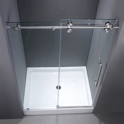 48 Sliding Shower Door Vg6041chcl48wm 48 Inch Frameless Shower Door Modern Showerheads And Sprays New York