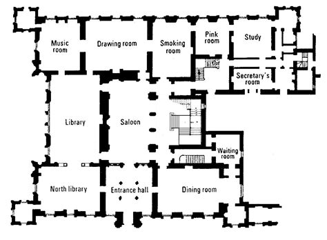 Highclere Castle Floor Plans | highclere castle floor plan the real downton abbey