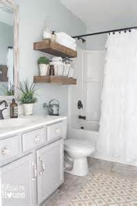 Bathroom Tile Ideas On A Budget Modern Farmhouse Bathroom Makeover Reveal