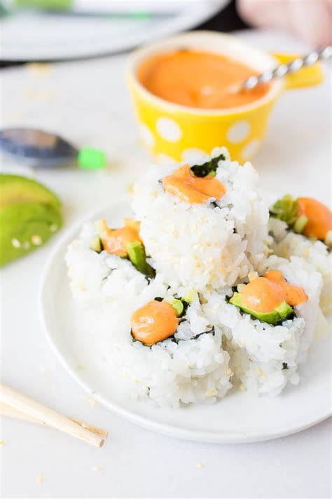 how to make sriracha mayo vegan sriracha mayo sushi date night in fooduzzi