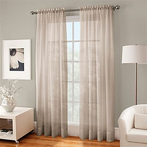 144 curtain panels buy crushed voile sheer 144 inch rod pocket window curtain