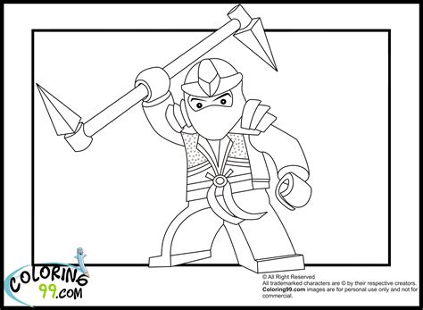 lego ninjago lloyd the green ninja coloring pages team