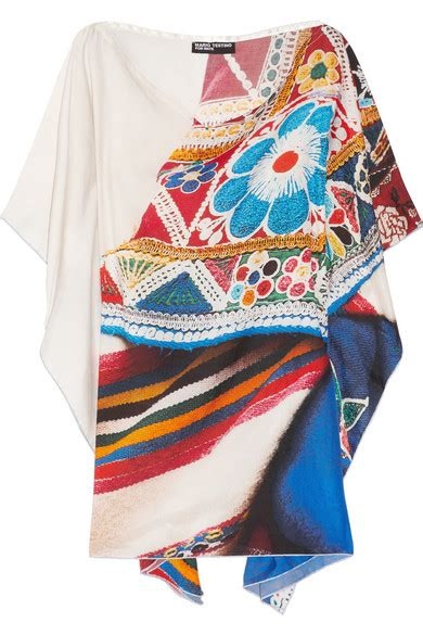 Kaftan Pink Naura mario testino for mate qepi printed cotton and silk