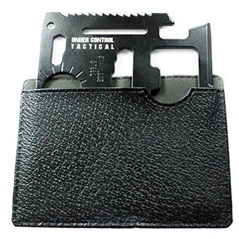 Carzor Credit Card Multi Tools With Tactical Knife Compass Etc best credit card knife 10 in 1 multi tool for wallet