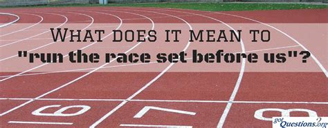 what does settee mean what does it mean to run the race set before us hebrews