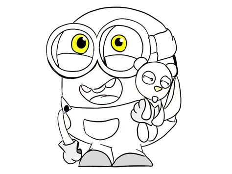 baby minion coloring page minion coloring pages bob free coloring pages