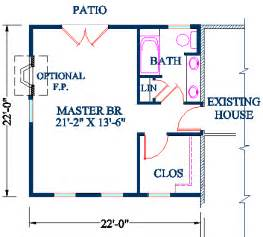 master bedroom addition plan vaulted ceiling over