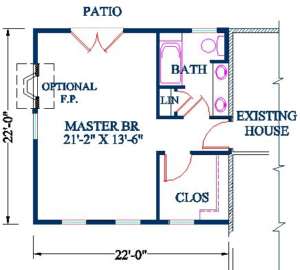 bedroom and bathroom addition floor plans master bedroom addition plan vaulted ceiling