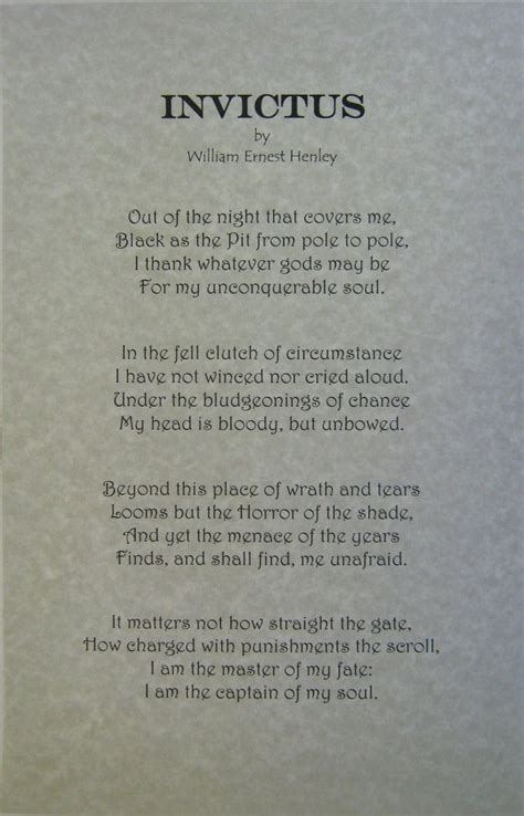Invictus Essay by William Ernest Henley Quotes Quotesgram
