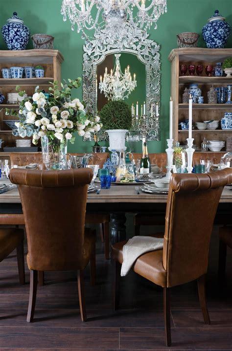 india jane dining room  world  interiors green