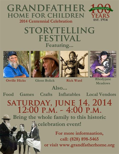 storytelling festival held at grandfather home for