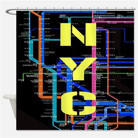 Subway Map Shower Curtains Subway Map Fabric Shower