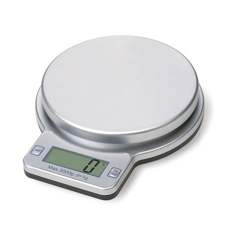 Weighing Scale by Premier Silver 3kg Kitchen Electronic Weighing Food