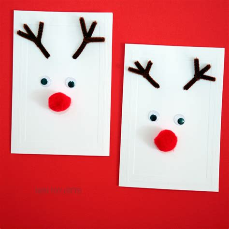 Reindeer Cards Kid Made Cards Non Gifts