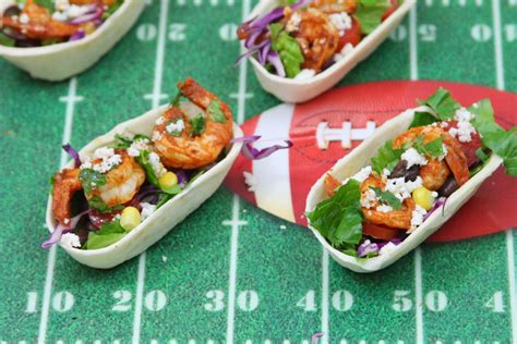 appetizer taco boats tailgating appetizer chipotle shrimp taco salad tortilla