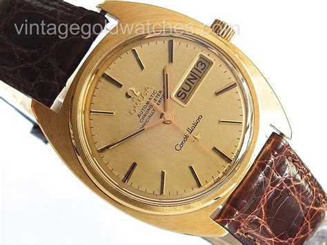 Omega Constellation Day Date 18K 1968   18K Gold Dial   Sorry Sold 08/08/14   Vintage Gold Watches