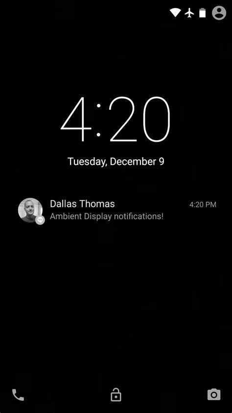 color lock screen get nexus 6 quot ambient display quot notifications on your nexus