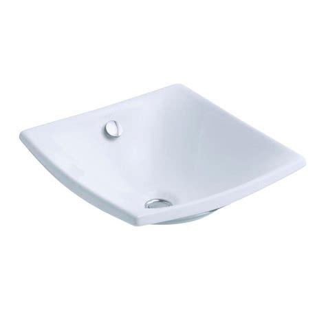 kohler vessel sinks kohler escale fireclay vessel sink in white with overflow