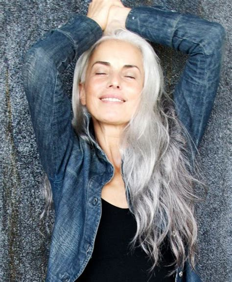 love the gray beautiful silver hair and my hair on pinterest